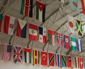 12 - The Flags in the Students First Bldg